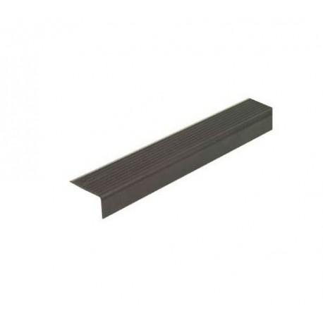 Perfil aluminio 25x15mm alféizar, negro 3m