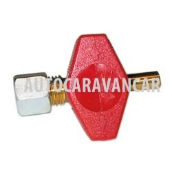 Válvula de cierre con pasador 8mm